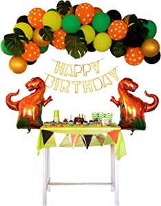 Dinosaur Birthday Party Decorations Supplies for Boys and Girls 1st Year Old Banner Balloon Decor Kids Pinata Boy Baby Shower Jungle Theme Decoration kit