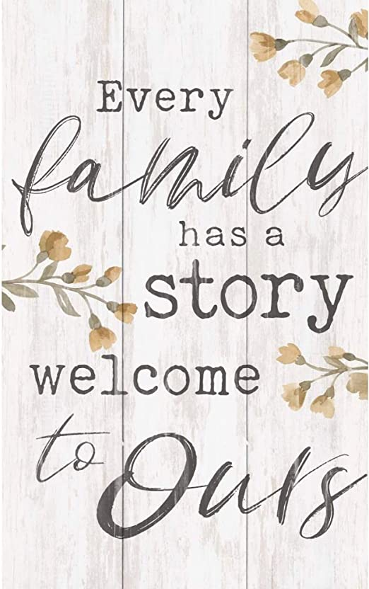 P GRAHAM DUNN Home is Story of Who We are Whitewash 10.5 x 17 Wood Barn Door Wall Plaque Sign