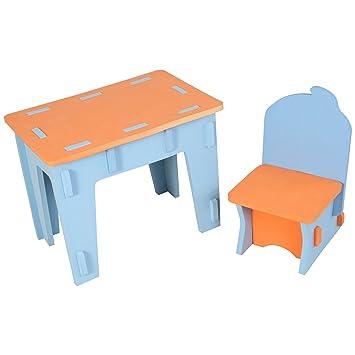 Amazonde Edruids Kinder Tisch Und Stuhl Eva Schaum Schreibtisch