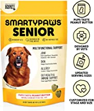 SmartyPaws Dog Supplement Chews for Seniors, Peanut Butter Flavor, 60 ct