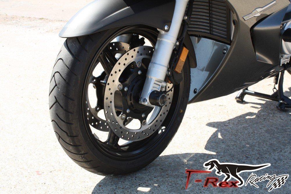 T-Rex Racing 2013-2019 Yamaha FJR 1300A//ES FJR1300 Luggage Engine Guards Front Axle Sliders Black