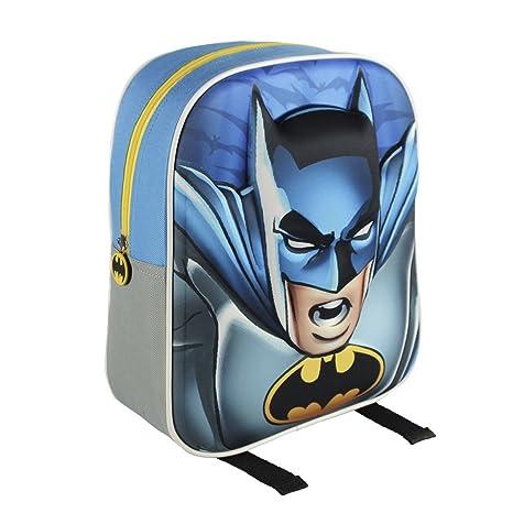 Batman Mochila 3D Logo Azul