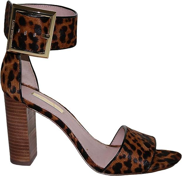 2141aee021fa3 Amazon.com   Louise et Cie Tova Cheetah Print Ankle Strap Sandals ...