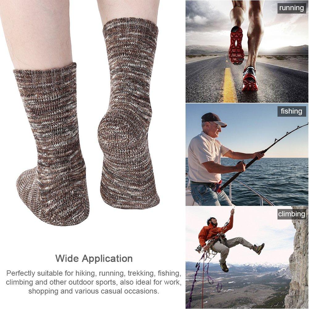 Vbiger 5 Paar Herren Crew Socken Baumwolle Socken Verdickt Thermische Warme Winter Terry Socken
