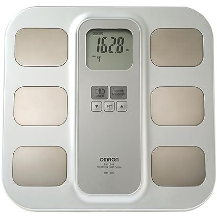 Omron Healthcare HBF-400 - Báscula de baño (LCD, Beige, Amarillo,