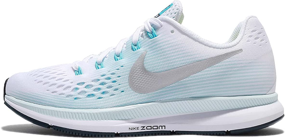 Nike Wmns Air Zoom Pegasus 34, Zapatillas de Running para Mujer, Multicolor (White/Metallic Silver/Glacier Blue 104), 36.5 EU: Amazon.es: Zapatos y complementos