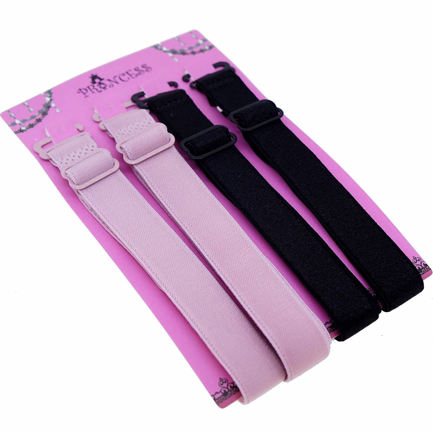 15mm Wide Band Fashion Stylish Bra Straps, Women's Accessories 10 Color Available Princess-J