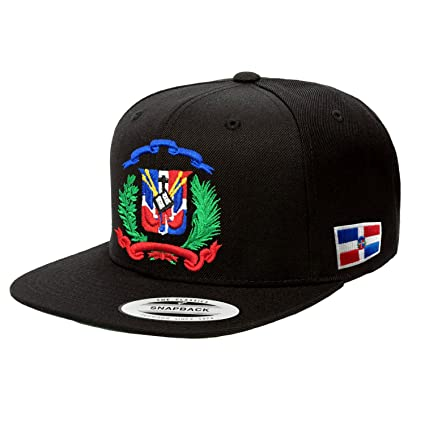 8525d793c0f Amazon.com  Peligro Sports Dominican Republic Hat Snapback (Black ...