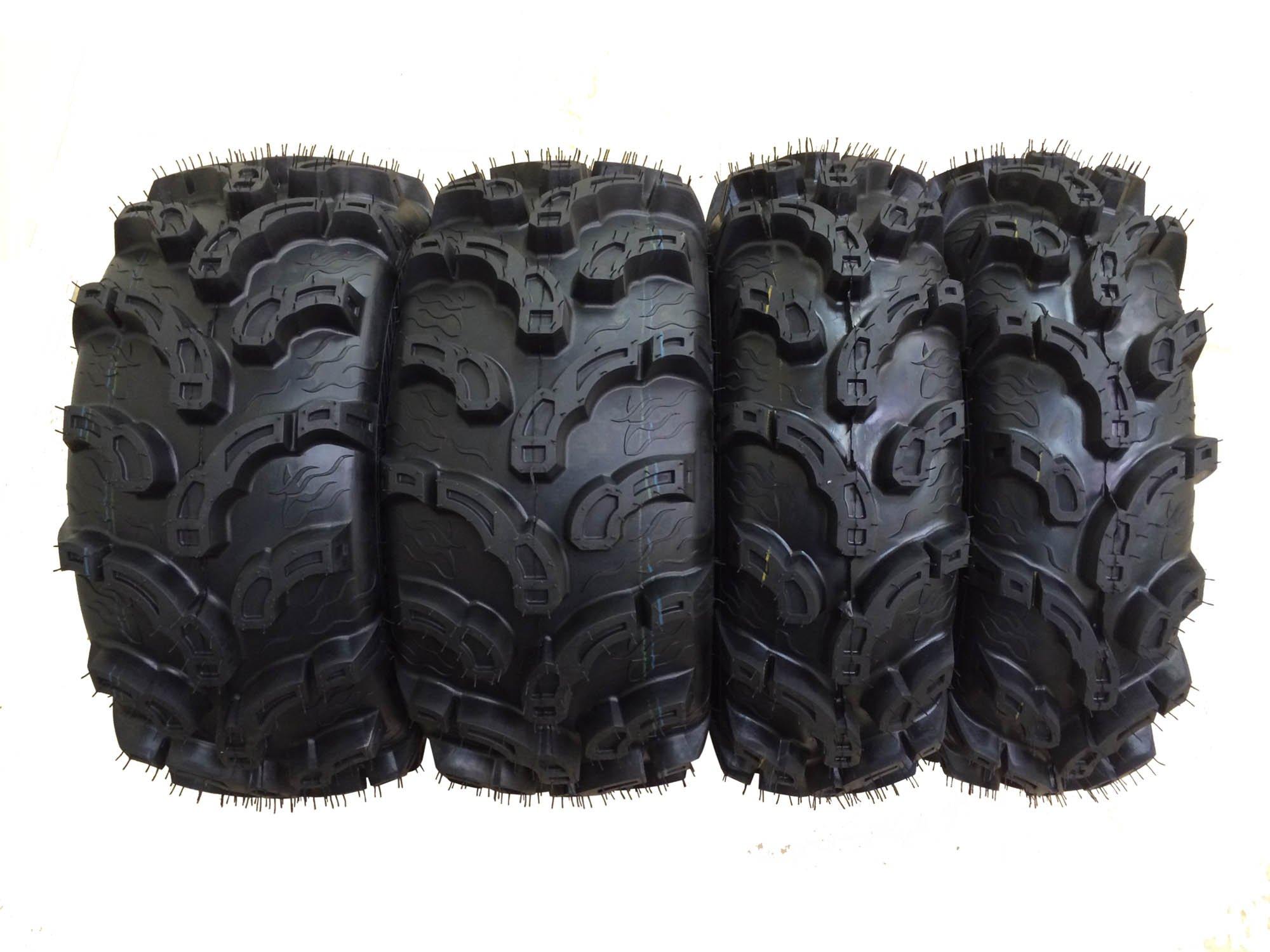Set of 4 New Premium WANDA ATV/UTV Tires 25x8-12 Front & 25x11-10 Rear /6PR P375 10212/10216 …