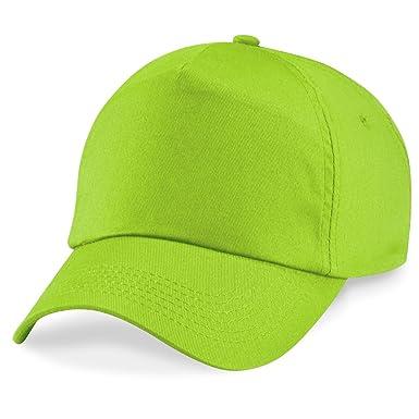 Beechfield Original 5 - Gorra verde Talla única: Amazon.es: Ropa y ...