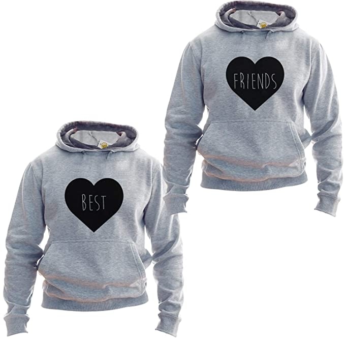 Best Friends Sudadera For Two Matching Friends Hoodies Cute Hearts: Amazon.es: Ropa y accesorios
