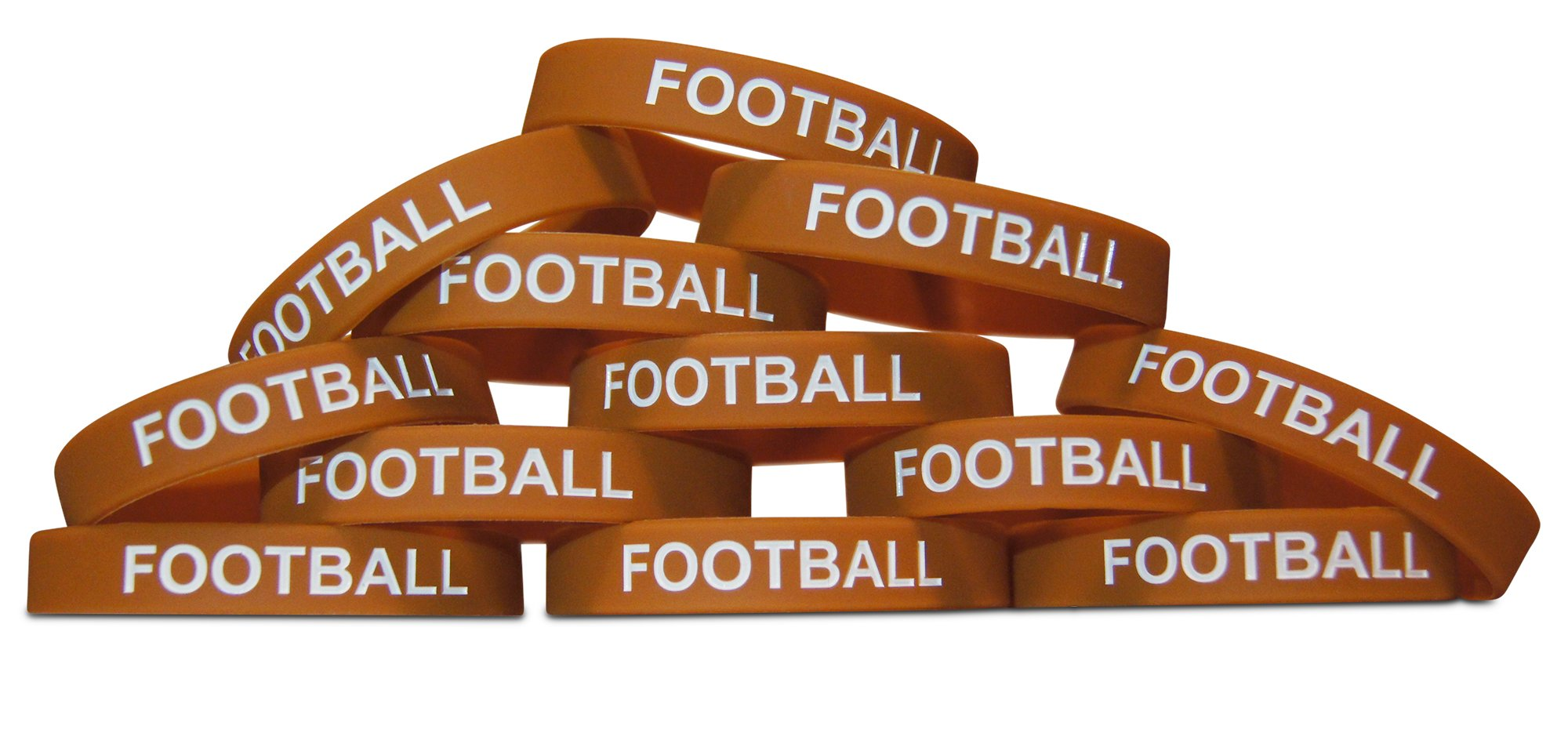 Novel Merk 12-Piece Kids Football Party Favor & School Carnival Prize Sports Silicone Wristband Bracelet