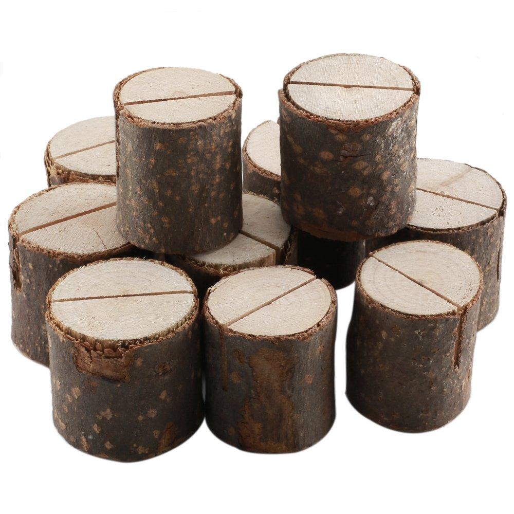 LULUNA 10 pezzi Segnaposto in legno per la festa del Matrimonio Natale