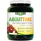 About Time Plant Based Superfood Protein, All Natural,Gluten/Cholesterol Free, 20g of Protein Per Serving (Vanilla Shake - 1.26 Pounds)
