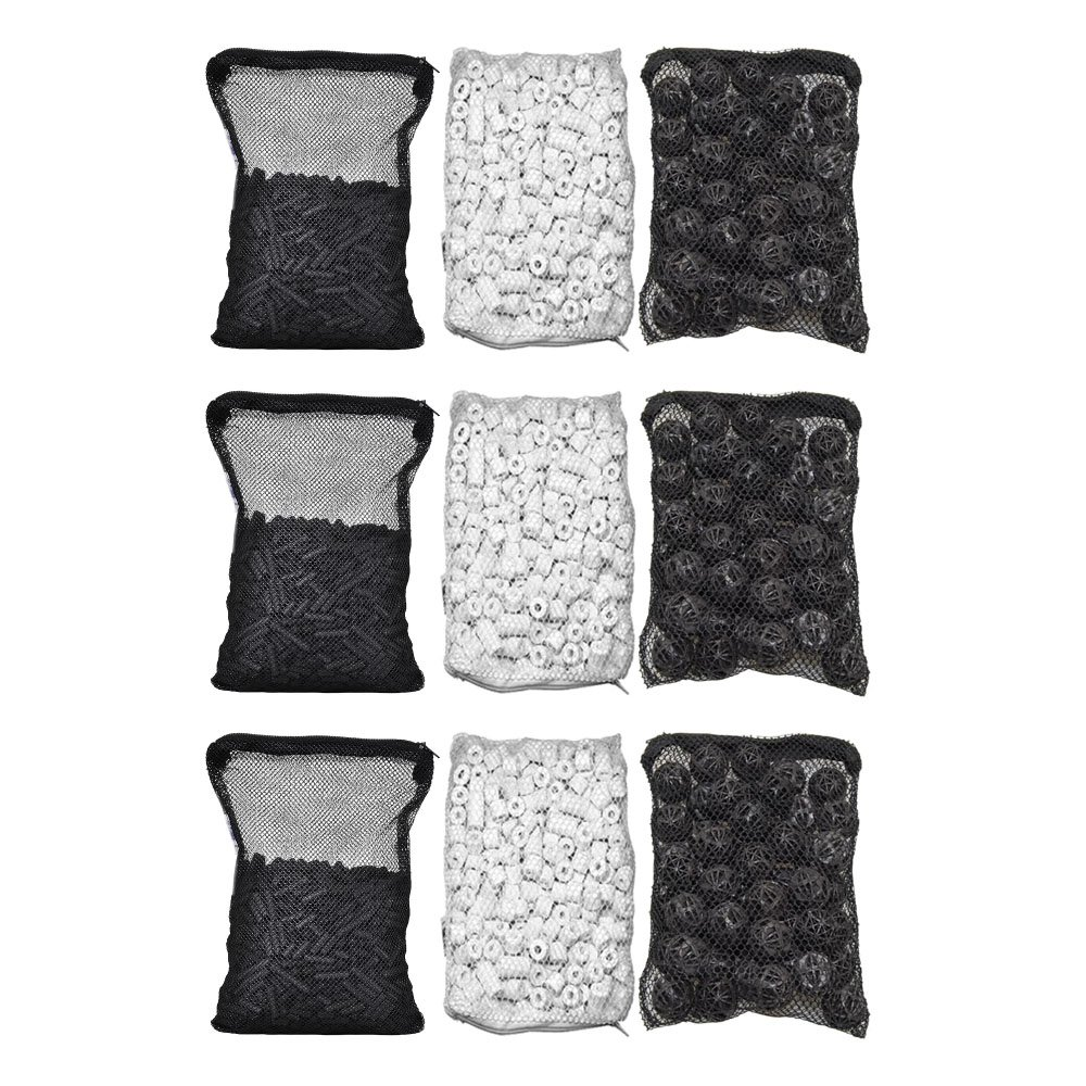 3 Piece CNZ Aquarium Filter Media Kits Ceramic Rings