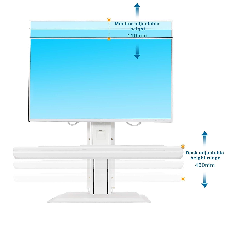 Negro NB North Bayou Soporte para Monitor Soporte para Monitor LCD LED y Pantalla Curva ST15