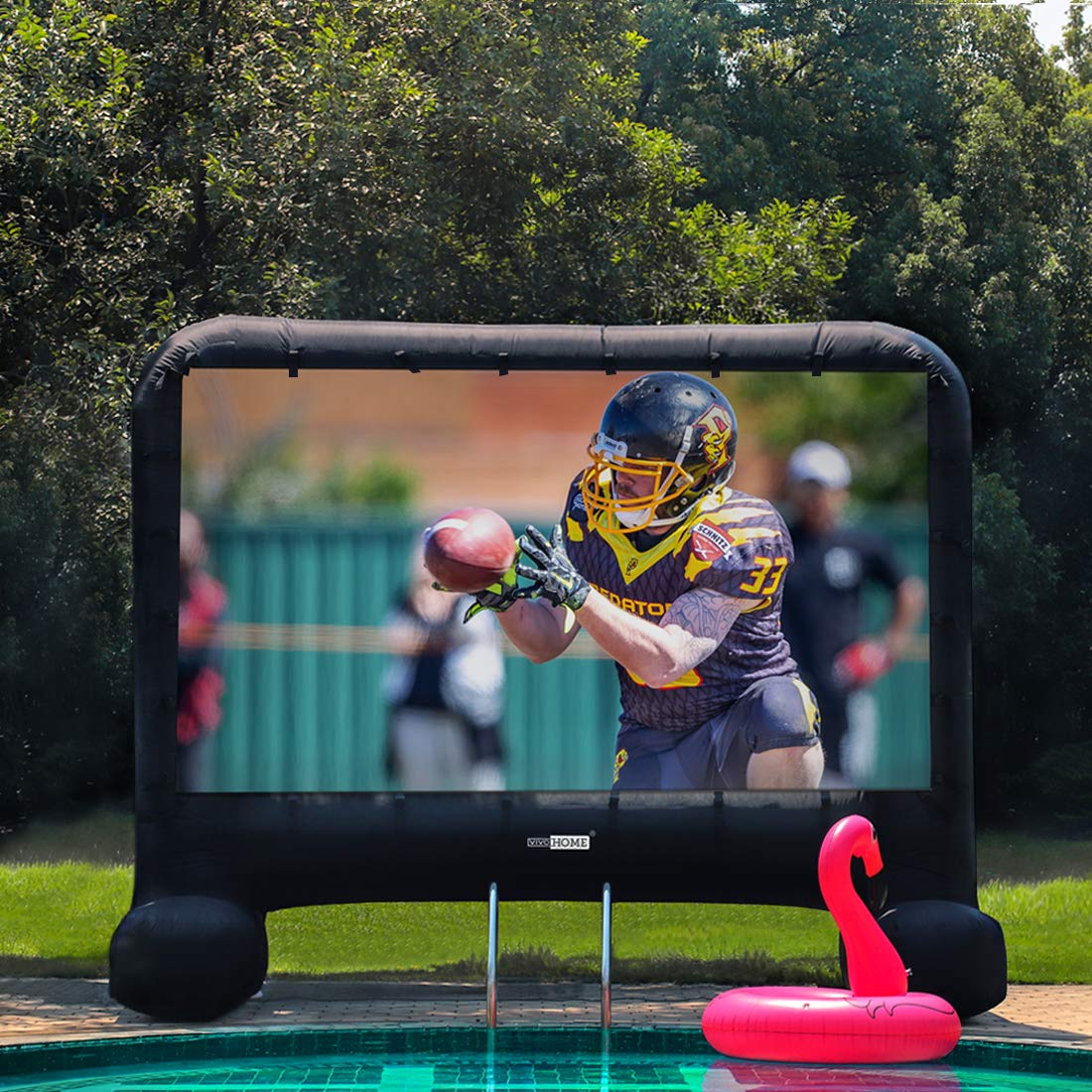 VIVOHOME 17ft Indoor and Outdoor Inflatable Blow up Mega Movie Projection Screen by VIVOHOME