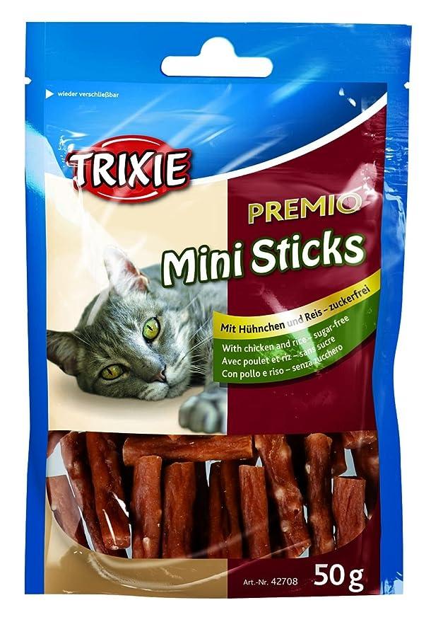 Golosinas para gatos / premios TRIXIE Mini Sticks pollo/arroz 50 g: Amazon.es: Productos para mascotas