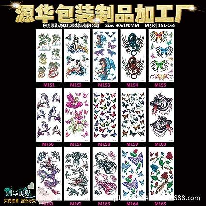 3 piezas flores y pájaros Cordyceps tatuaje pegatinas mariposa ...