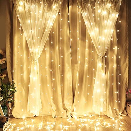 Amazon.com: pop-belief 300 luces LED para cortina de ventana ...