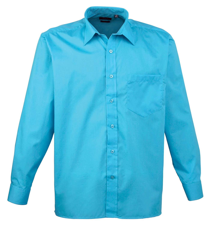 Premier Long Sleeve Poplin Shirt Turquoise 16