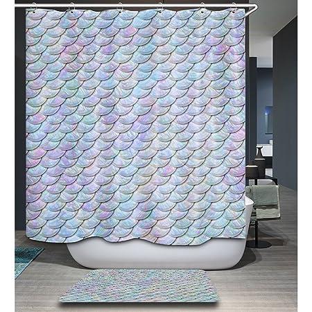 CHAI B47 - Cortina de Ducha para baño (100% poliéster, 180 x 180 ...