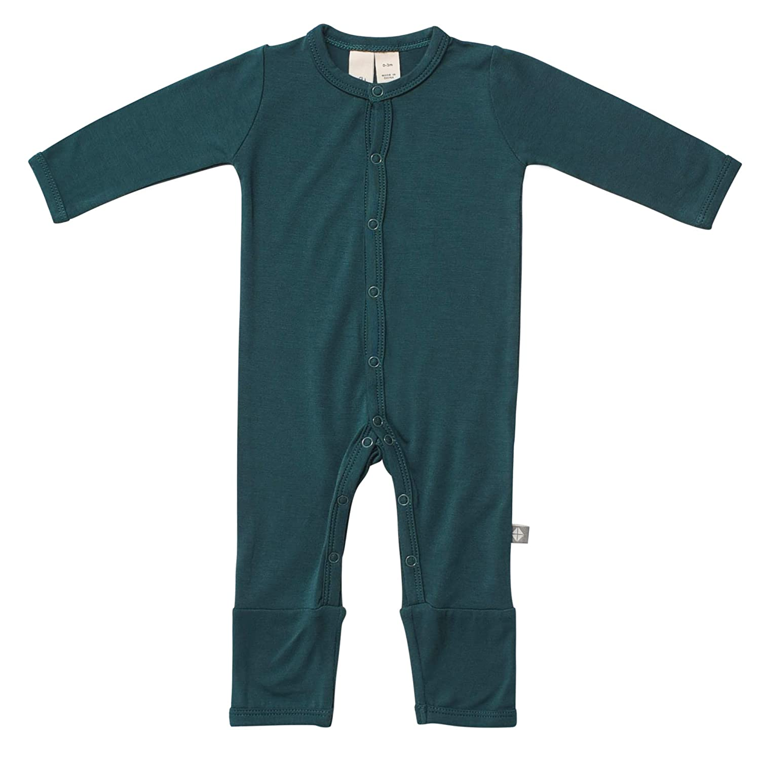 0-24 Months KYTE BABY Rompers 18-24 Months, Emerald Baby Footless Coveralls Made of Soft Organic Bamboo Rayon Material