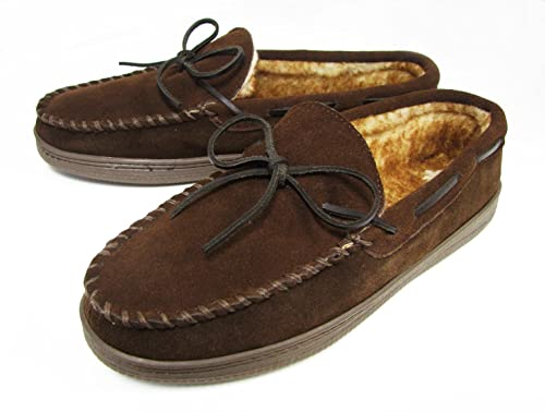 6a84f63ae27189 Amazon.com | Club Room Mens Moccasin Faux Fur Slippers (X large (13 ...