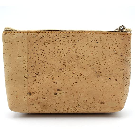 Corcho natural pequeño Bolso de mano Monedero original hecho ...