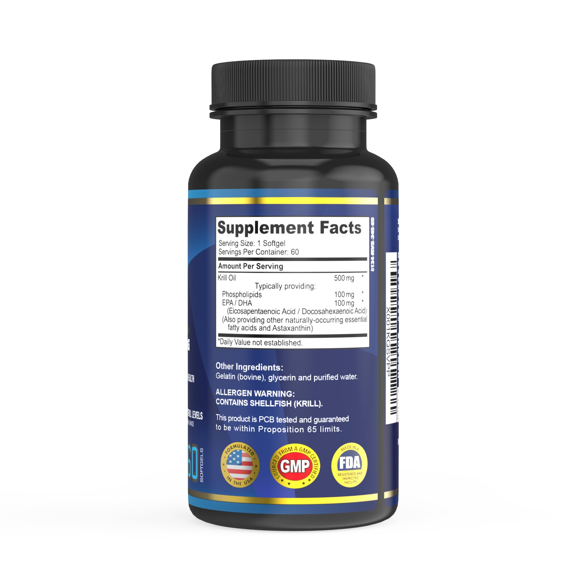Premium Krill Oil Supplement with EPA/DHA by Fettle Excellence, Astaxanthin, Memory & Mood Enhancer, Boosts Energy, Fights Inflammation, Supports Healthy Joints and Cardiovascular Health, 60 softgels by Fettle Excellence (Image #2)