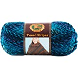 Lion Brand Yarn 753-205S Tweed Stripes Yarn, Caribbean