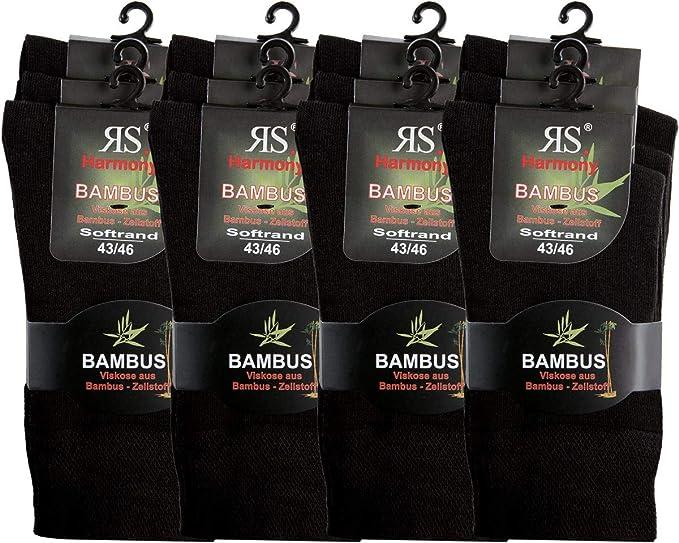 Harmony | Medias y Calcetines | bambú Super Suave Transpirable 12 Paar - Schwarz