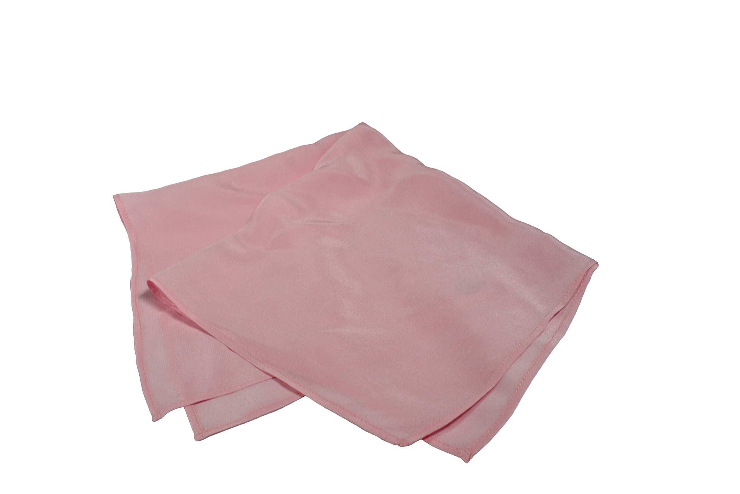 Fine Pink Silk Pocket Square - Full-Sized 16''x16'' by Royal Silk (Image #8)