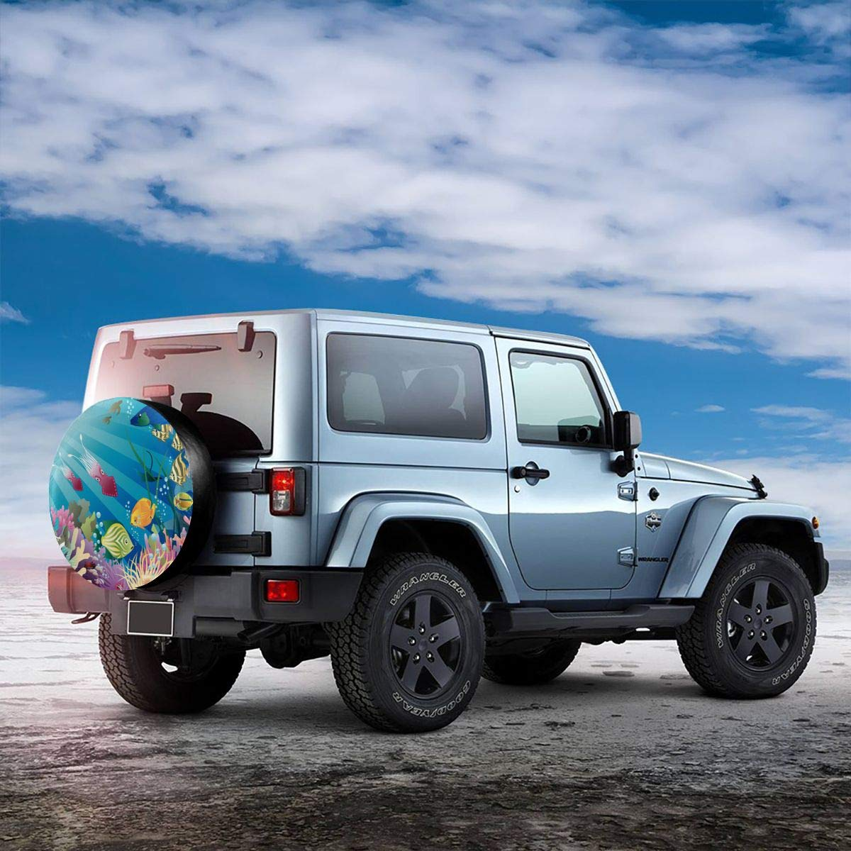 Pokuisnb Sunscreen Fish Tank Aquarium Alphabet Spare Tire Covers for All Cars 17 Inch by Pokuisnb (Image #3)