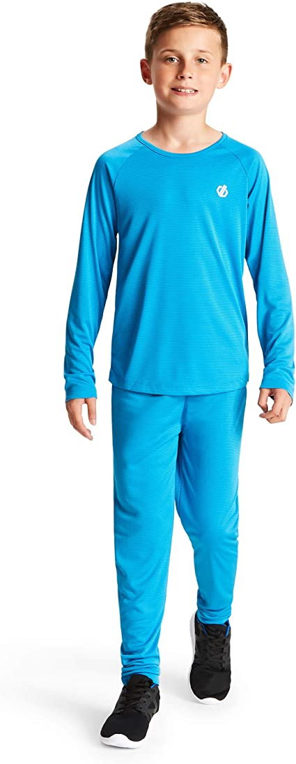 Dare 2b Childrens Elate Lightweight Fast Wicking and Quick Drying Performance Ski and Snowboard Active Outdoor Base Layer Set With Anti-bacterial Odour Control Treatment