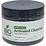 Bio Naturals Activated Charcoal Virgin Powder Food Grade NSF/ANSI Certified (1.2 oz) | Satisfaction Guarantee or 100% Money Back