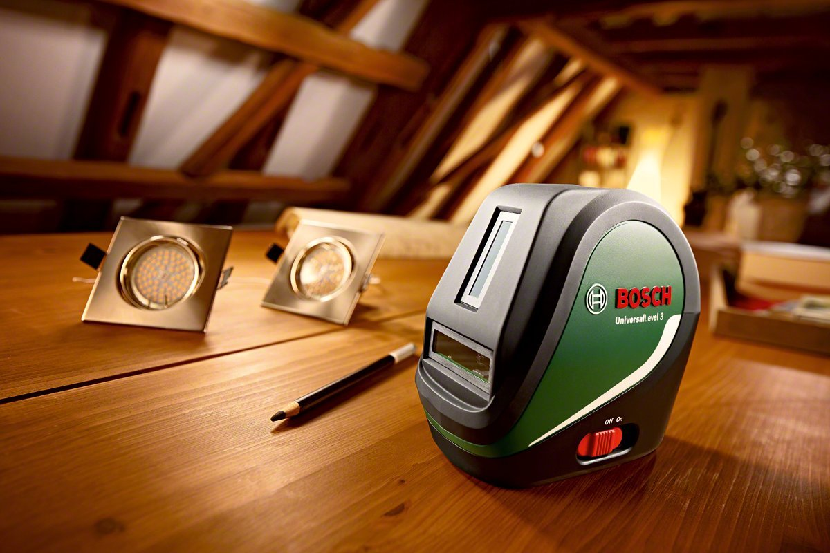 Nivel l/áser de l/íneas UniversalLevel 3 con Tr/ípode TP 320 Bosch