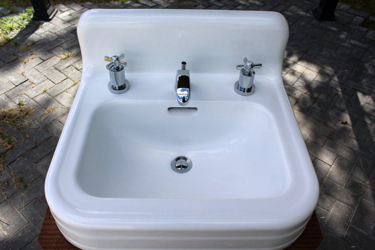 Amazon.com: Reclaimed Wood Bathroom Console Sink 1941 Refinished ...