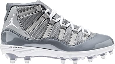 7b4b4308f6f NIKE Men's Air Jordan Xi Retro TD Football Cleat Grey/White (10 D(M) US)
