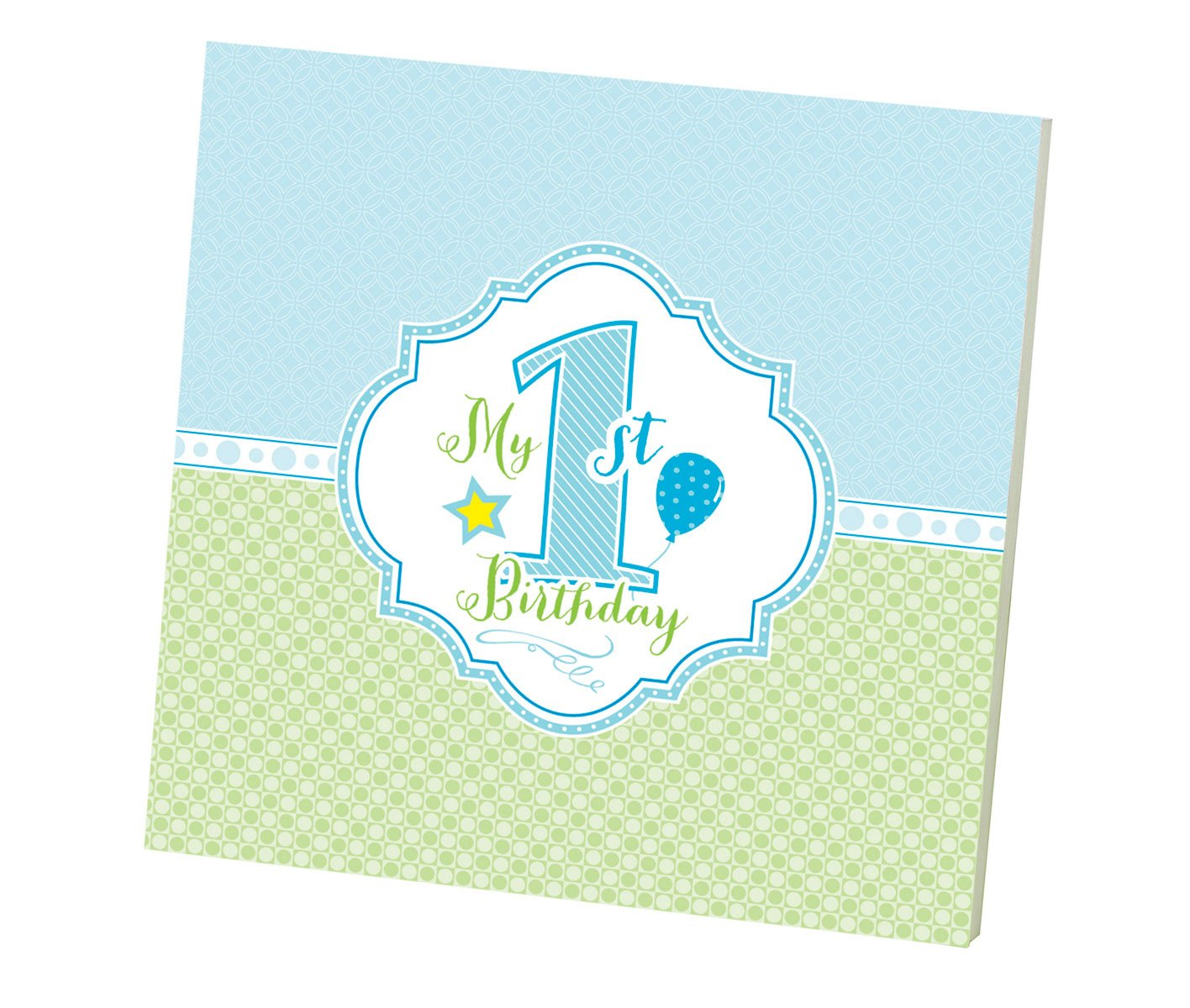 Lillian Rose 1st Birthday Keepsake Memory Book, Blue, 7