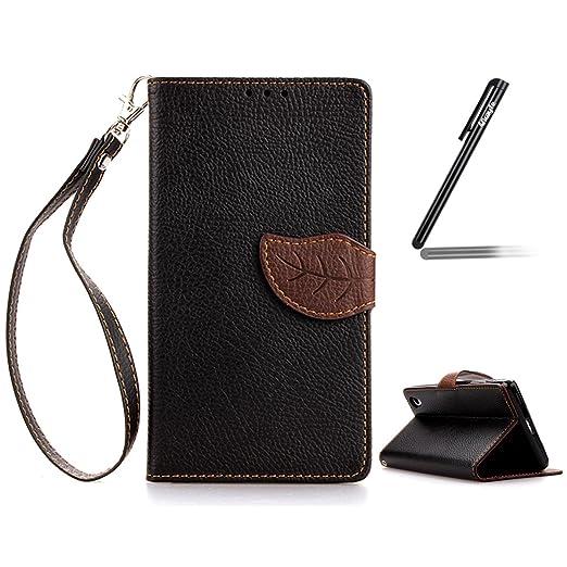 7 opinioni per Sony Xperia Z2 Case, Ukayfe Custodia portafoglio / wallet / libro in pelle per