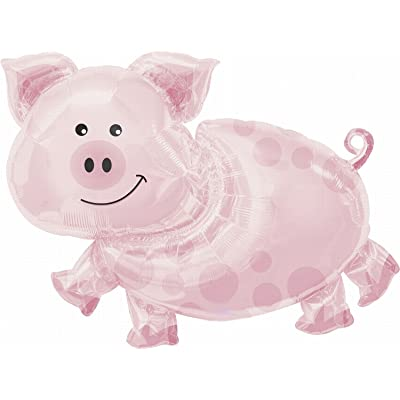 "Anagram International Pig Shape Pack, 25"": Childrens Party Balloons: Kitchen & Dining"