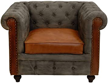 korb.outlet Chesterfield Ledersessel Echtleder Polstersessel Leder ...