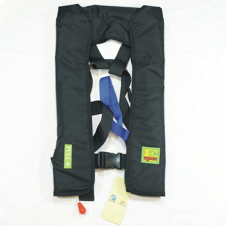 安い プレミアム品質のマニュアルインフレータブルライフジャケット B01LWBGYQS Lifejacket PFDフローティングライフベスト ブラック サバイバル生存補助をするインフレータブルでPFDの基礎 ブラック Lifejacket B01LWBGYQS, カミサトマチ:ef4c126b --- a0267596.xsph.ru