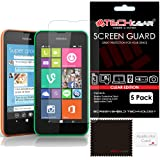 [Pack of 5] TECHGEAR® Nokia Lumia 530 CLEAR LCD Screen Protector Guard Covers with Cleaning Cloth & Application Card