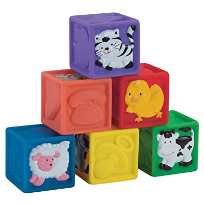 Small World Toys IQ Baby - Squeeze-A-Lot Blocks: Toys & Games
