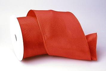 Christa-B/änder Uniband Metallic rot 70 mm mit Draht