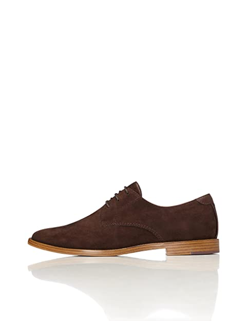 NJX/ Zapatos de mujer - Tacón Plano - Punta Cerrada - Oxfords - Casual - Semicuero - Negro / Caqui , khaki-us5.5 / eu36 / uk3.5 / cn35 , khaki-us5.5 / eu36 / uk3.5 / cn35