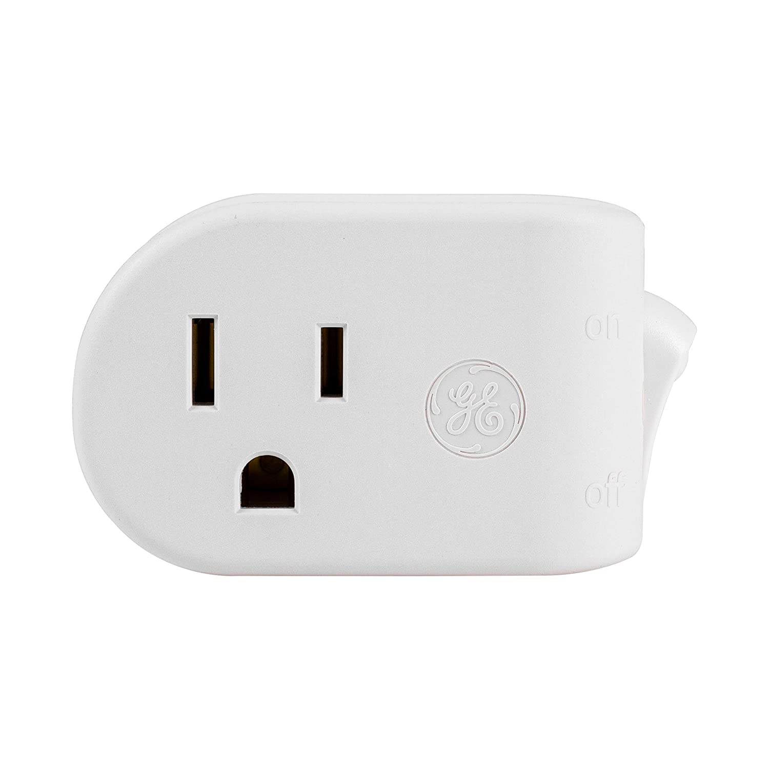 Ge Grounded On Off Power Switch Plug In White Energy Efficient Wiring Outlets And Switches The Safe Easy Way Family Space Saving Design Ul Listed 15a 120vac 1800w 25511