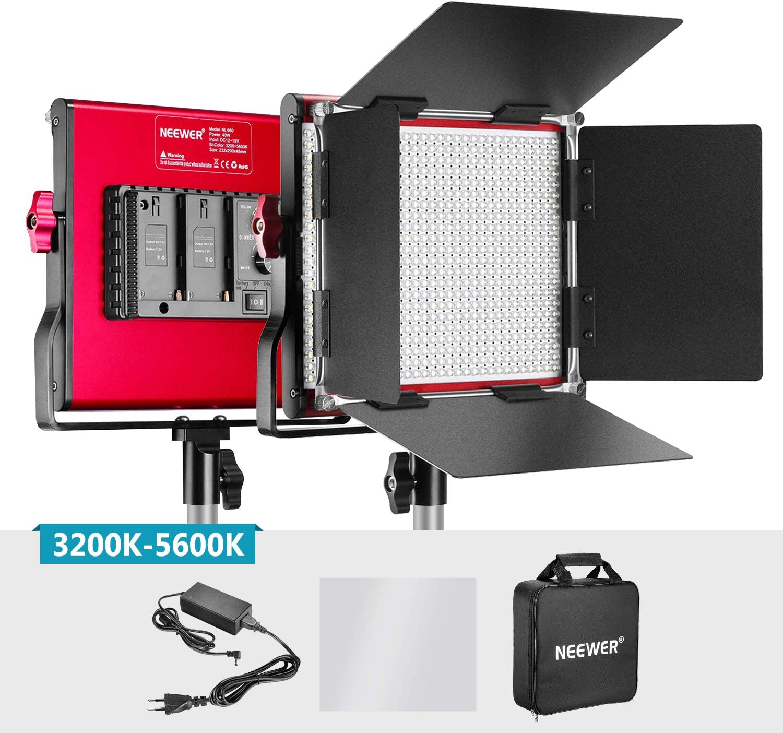 Neewer Bi-color Luz LED Video Metal Professional para Estudio YouTube Fotografía Producto Filmación Marco Durable 660 Bombillas Regulable con Soporte U Barndoor 3200-5600K CRI 96+: Amazon.es: Electrónica